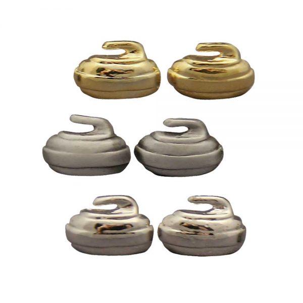 Curling Stud Earrings